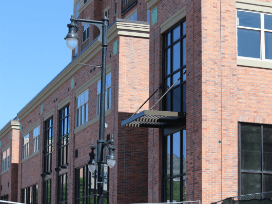 Building Protected with Old Mill Brick Continuous Insulation