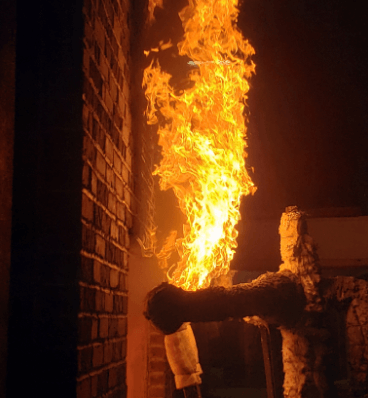 Old Mill Thin Brick Panel Fire-Testing