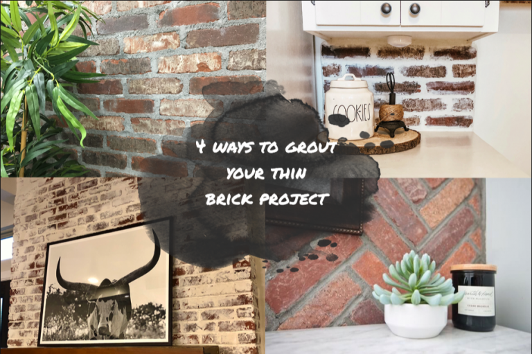 4 Ways to Grout your Thin Brick Project