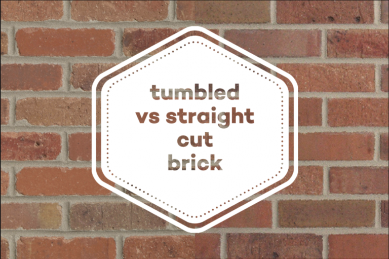 Tumbled vs Straight Cut Brick