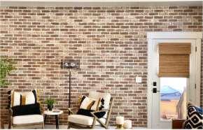 Thin Brick Accent Wall w/ Brickwebb   Castle Gate