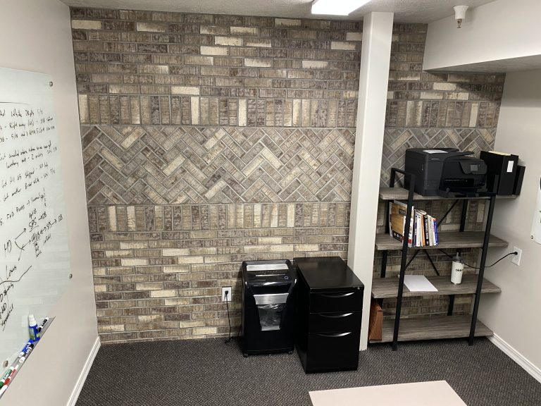 Thin Brick Accent Wall in an Office | Old Mill Brick HQ